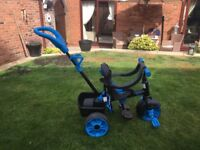 4-in-1 Deluxe Edition Trike - Neon Blue