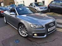 AUDI A5 2.0 TFSI S LINE QUATTRO CONVERTIBLE AUTOMATIC 2010 4 WHEEL DRIVE MINT FULL HISOTRY 1/P/OWNER