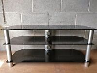 Glass TV stand - good for large TVs