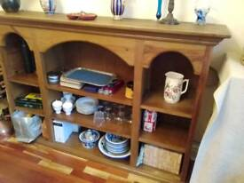 Bookcase. Large, solid wood.