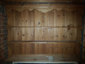 Solid pine dresser display unit in very good condition.