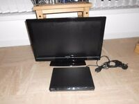 "Toshiba 22"" tv and Sony dvd player."
