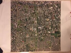 Aerial view poster of Hulme (Manchester) cir. 2008