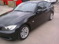 BMW 320 i SE . 4 DOOR. MANUAL. BLACK. 07 REG. FSH.