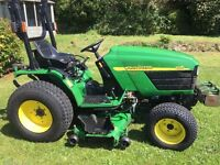 REDUCED John Deere 4115 compact 23.5hp diesel tractor, mulching mower - only 854 hours! Reduced!
