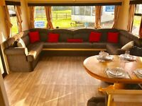 8 Berth Static caravan for sale IOW on a 12 month park with sea & countryside views, Isle Of Wight