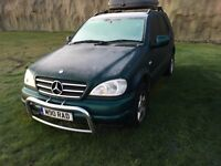 ML320, green metallic, 1999 with loads of extras and private number plate