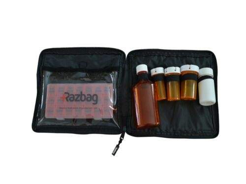 Traveler size Prescription Medication Bag. Lockable, Great for Baby Medicine