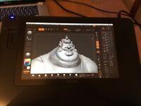 Wacom Cintiq 12wx Graphics Tablet LCD screen