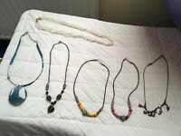 Costume jewellery necklaces x 6. The lot for £12.00 or £2.50 each