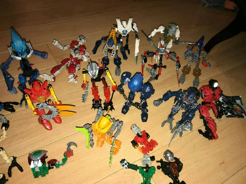 Large lot of bionicles hero factory lego toys x 16