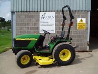 Used John Deere 4100 compact tractor.