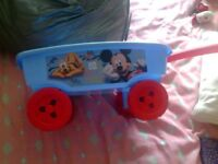 Mickey mouse pull along truck