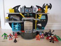 Bat Cave & Figures Playset & Characters Bundle