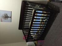 3 in one solid wood crib for sale