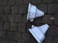 pair cast iron drain hoppers