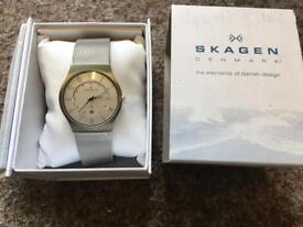 Skagen Danish mans watch designer brand new in box