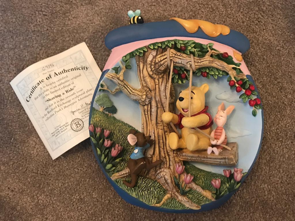 Winnie the Pooh 3D Collectors Plate Bradford Exchange