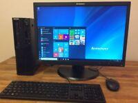 "FULL SET Lenovo - i5 3470 - Windows 10 - Office - Wireless + 22"" Monitor Desktop PC Computer"