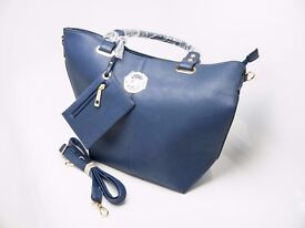 Michael Kors women's handbag shoulder bag blue navy