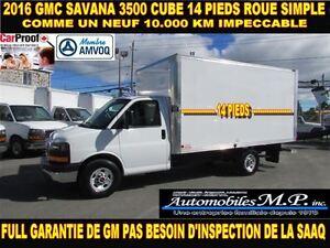 2016 GMC Savana 3500 CUBE 14 PIEDS ROUE SIMPLE 10.000 KM