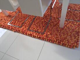 7ft*5ft Orange Pebble Rug
