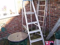 INDUSTRIAL STANDARD STEP LADDERS USED GOOD CONDITION 6FT