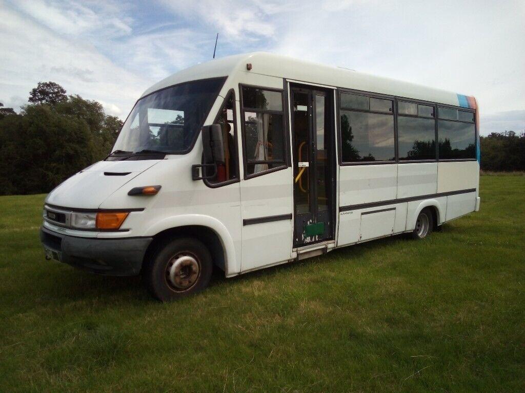 Iveco campervan live in bus fixed king size bed 4 berth fixed bunk beds  motorhome camper | in Acrefair, Wrexham | Gumtree