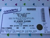 Prodigy Ticket O2 Academy Glasgow **sold pending collection**