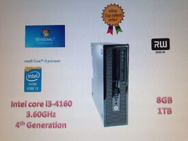 HP Prodesk 400 G1 Intel Core i3-4160, 8GB , 1TB 4TH GENERATION, WIN 7 PRO INSTALLED LCD ALSO AVAILAB