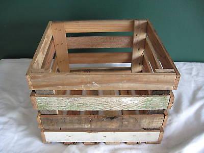 Barnwood Rustic Wooden crate storage wedding decoration K&D CobbleShop
