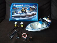 PLAYMOBIL City Action Patrol Boat £15 **FREE DELIVERY**
