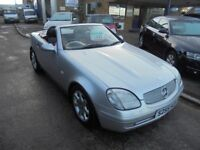 1999 s mercedes slk 230 kompressor automatic hardtop convertible, 12 months mot, 30 + cars in stock.