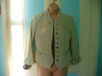 Womens Firefox stonewashed denim jacket