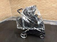 Hauck double pushchair with rain cover