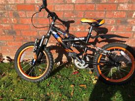 "Raleigh MX16FS Boys 16"" Wheel Bike - Orange/Black 2013"
