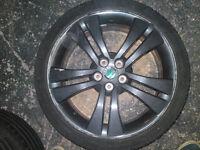 "Set of 4 used Skoda Fabia Monte Carlo 17"" Trinity alloy wheels with tyres"