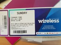 WIRELESS 4 TICKETS SUNDAY 8TH JULY
