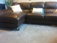 Leather Corner Sofa. Furniture Village. Perfect condition. Collect from GU1.