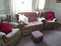Two seater three piece suite