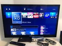 "Sony 40"" nx713 led 3d tv with accessories"