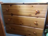 Chest of drawers (3) in pine