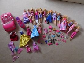 Collection of Barbies and Accessories for sale