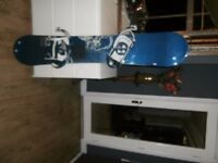 K2 Luna 150 Ladies snowboard with Burton bindings