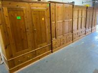 Quality used solid wardrobe, bookcase & display cabinet