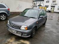02 PLATE NISSAN MICRA. 1 LITRE PETROL. PX TO CLEAR