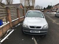 Vauxhall Zafira 1.6 Petrol 7 seater family car low millage