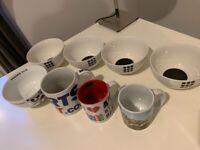 Household bundle: 3 mugs 5 bowls
