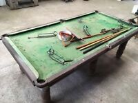 8 x 4 Slate bed snooker table