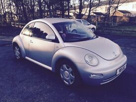 VW BEETLE 2.0 WITH PRIVATE PLATE, JULY MOT, S/HISTORY, NEW TIMING BELT, VERY GOOD CONDITION